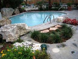 Pool Landscaping Ideas On A Budget Landscaping Ideas Around A Pool Personable Property Family Room A