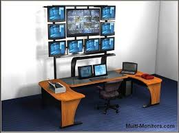Workstation Computer Desk Sized Multiple Monitor Computer Desk For Monitors Perfect 82 About