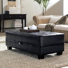 coffee table appealing rectangular leather ottoman coffee table