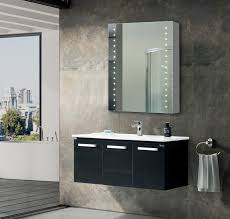 led vanity medicine cabinet mirror with double sided mirror and on