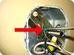 grounding a light fixture how to install ceiling light fixture without a ground wire www