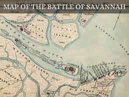 Savannah Map Battles Of The Revolutionary War By Jacob Akers