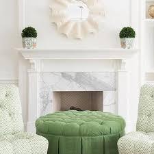 Skirted Ottoman Green Tufted Skirted Ottoman Design Ideas