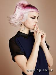 root drag hair styles 2016 platinum choppy bob with fuschia root drag and blunt micro