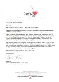 recommendation letter for volunteer work gallery letter samples