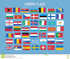 European Flags Images Flat Vector Collection Of Europe Flag Set Stock Vector Image