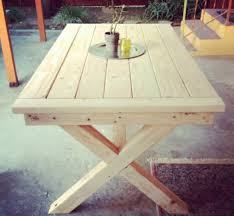 Wood Picnic Table Plans Free by Free Diy Furniture Plans Outdoor Toscana Table The Design
