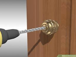 How To Add A Lock To A Desk Drawer How To Drill A Lock 9 Steps With Pictures Wikihow