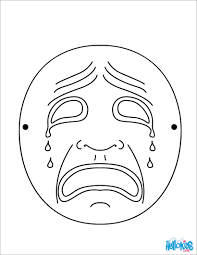 crying moon mask coloring pages hellokids com