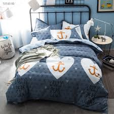 Anchor Bedding Set Tutubird Style Anchor Bedding Sets 100 Cotton Geometry