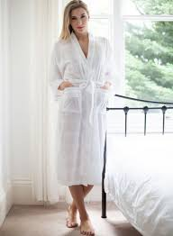 robe de chambre blanche kimono de cottonreal modèle nakai chez