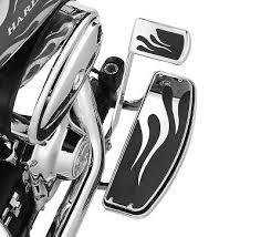 Motorcycle Footboards Flames Rider Footboard Insert Kit Hdnaughtylist Harley Davidson
