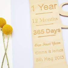 personalised 1st wedding anniversary card by hickory dickory