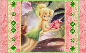 tink with a flower wallpaper 3d and cg abstract background