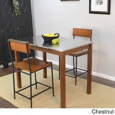 amazon com modern shaker solid wood counter height bar table with