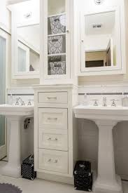 double pedestals with two mirrors bathroom home
