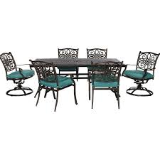 Hampton Bay Corranade 5 Piece - rectangle patio dining furniture patio furniture the home depot