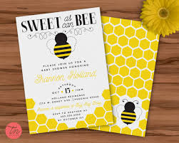 sweet as can bee printable 5x7 baby shower invitation