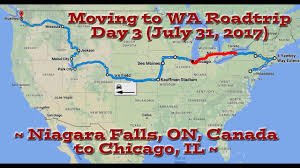 Niagara Falls Canada Map by Moving To Wa Roadtrip Day 3 Niagara Falls On To Chicago Il 7