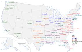 Map Of Boston College Power Five Conferences Wikiwand