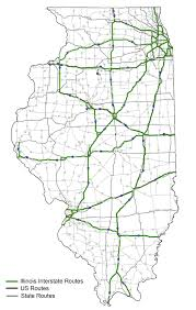 Illinois Railroad Map by Highway