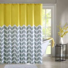 Yellow Curtain Buy Yellow Chevron Curtains From Bed Bath Beyond