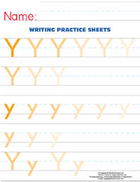 letter y practice worksheet u2013 large text size u2013 e is for enrichment