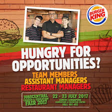 Career At Burger King Hungry For Opportunities Bk U0027s Hosting A Burger King