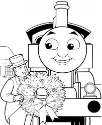 cartoon train picture kids coloring