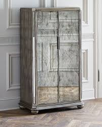 john richard collection brigham mirrored cabinet