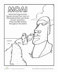 island coloring page 36 best homeschool resources easter island images on pinterest