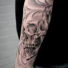 black and gray skull artist janissvars blackandgray blackngray