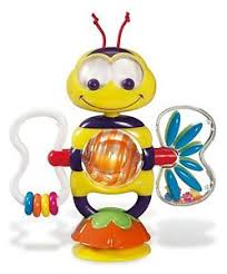 munchkin bobble bee suction baby toy stick on table top high chair