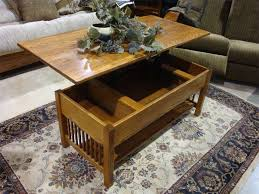 Rectangular Coffee Table Living Room - classic mission rectangular coffee table with lift top from