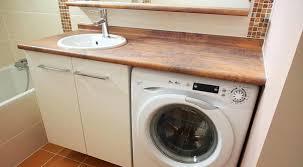 lave linge dans cuisine meuble cache lave linge installer un lave linge dans salle de bain