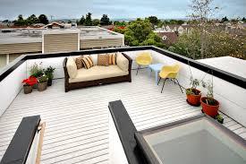 rooftop deck ideas patio modern with black high gloss railing