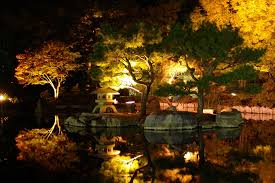 Japanese Garden Lamp by Lighting Up Japanese Garden Some Of These Spots Will Be U2026 Flickr