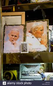 pope souvenirs shop display of pope paul ii souvenirs in the sukiennice