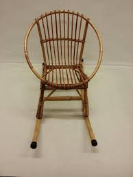 Toddler Rocking Chairs Children U0027s Rattan Rocking Chair 1960s For Sale At Pamono