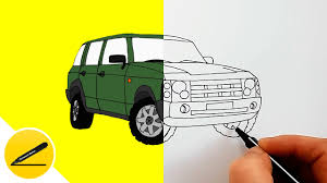 range rover drawing how to draw a car range rover youtube