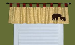 Valances For La Amazon Com Trend Lab Northwoods Window Valance Red Tan Baby