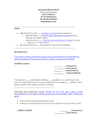 Resume Sample Nurses Experience by Sample Resume General Ward Nurse Templates