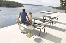 Outdoor Lounge Vis A Vis Contemporary Sun Lounger Batyline Aluminum Garden Illum
