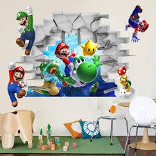 aliexpress com buy 3d view super mario games art kids room decor