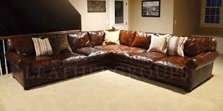 Leather Sectional Sofas For Sale Langston Leather Sectional Sofas Leathergroups