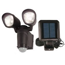 Solar Spot Lights Lowes by Shop Utilitech 110 Degree 2 Head Black Solar Powered Integrated