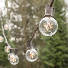 globe string lights brown wire string lights 2 in rice light bulbs 25 ft brown wire c9 clear