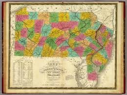 Pennsylvania Map by Map Of Pennsylvania New Jersey And Delaware David Rumsey