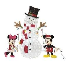lighted mickey mouse sculpture outdoor yard decor