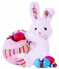 plush easter basket plush easter bunny with chocolate egg filled easter basket